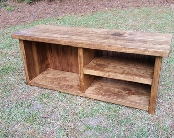 Mudroom Storage Bench, Hallway Bench, Rustic Entryway Bench, Shoe And Boot Bench, Wood Bench, Rustic Bench
