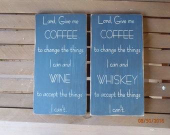 Wine Sign Coffee Sign Funny Sign Cafe Sign Kitchen Decor Wood Sign Primitive Sign Rustic Sign Kitchen Sign Wall Decor Home Decor