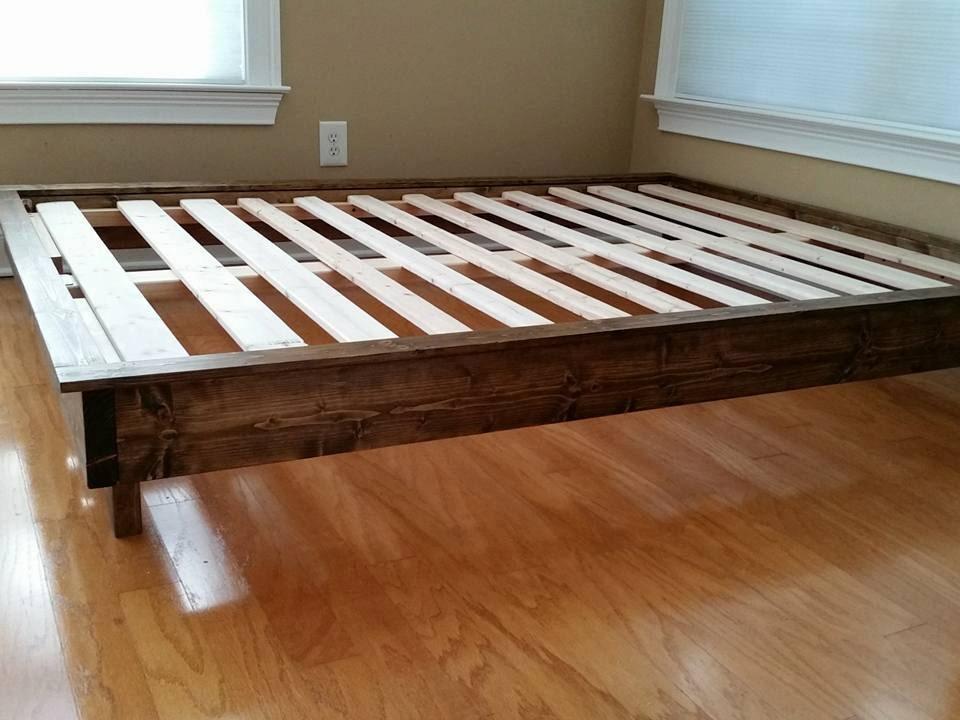 platform bed bed frame low profile bed wood bed twin. Black Bedroom Furniture Sets. Home Design Ideas