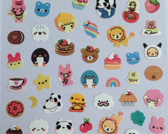 Kawaii stickers, paper, 19 cm long 9.8 cm wide