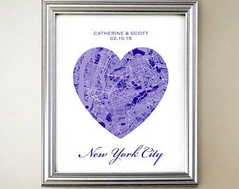 New York City Heart Map