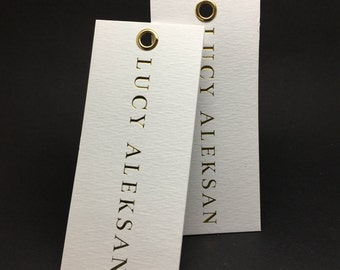 500 gold hang tags, custom gold hang tags, gold foil hang tags