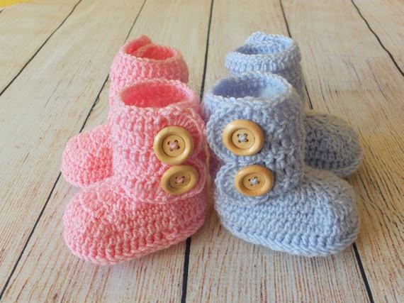 Bebe Jumeau Fille Garcon : Chaussons de bébé jumeaux cadeau