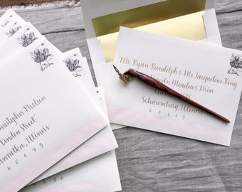 Calligraphy Addressed Envelope- Custom
