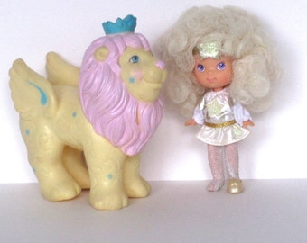 1986 - Moon Dreamer Doll Toy - Roary Lion - Bitsy - StarFinders - Hasbro - Glow in the Dark - Star Finders - Excellent Condition