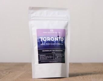 Toronto Loose Leaf Tea Blend - Apple, Peach, and Maple Green Tea - 100g bag