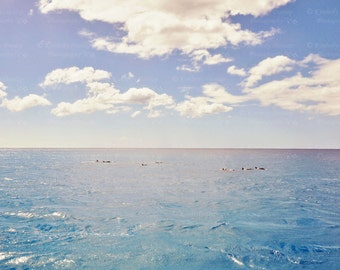 Dolphin Photograph {Wildlife Photography, Dreamy Ethereal Picture, Ocean Art, Marine Mammal Photo, Hawaii Print, Home Decor, Turquoise Blue}