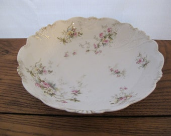 Reduced!  Antique, Royal Vienna Germany, bowl, with roses, pink, white, yellow - free shipping USA