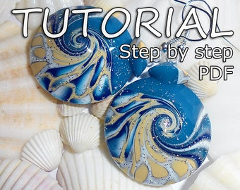 Earrings tutorial, Jewelry tutorial, Tutorial, Polymer clay tutorial, Step by step, How to make earrings, Handmade tutorial, Craft tutorial