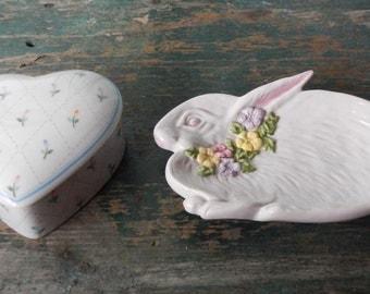 Cute Bunny Dish and Tinket Box!