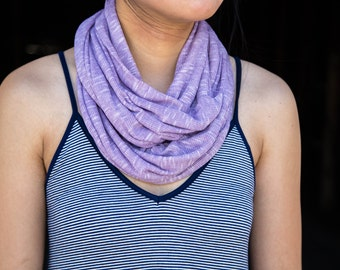 Heather Light Purple Infinity Scarf