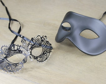 His and Her Couple Mask | Masquerade Mask | Venetian | Prom | Wedding |