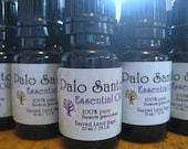 Palo Santo Essential Oil (Pure High Grade) 1/3 oz (10ml) Cleanse/Bless. Soul Retrieval. Peru Shaman's Wood Oil, Sacred Land Sage