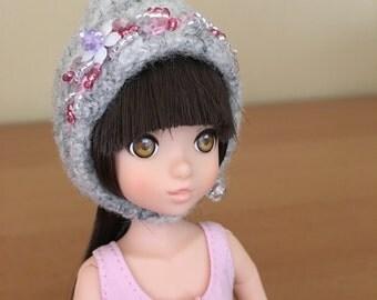 Felted & Embellished Gnome Hat for Ruruko or Licca