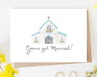 Gonna Get Married! Chapel Wedding Card