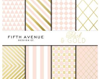 Digital Paper - Blush & Gold