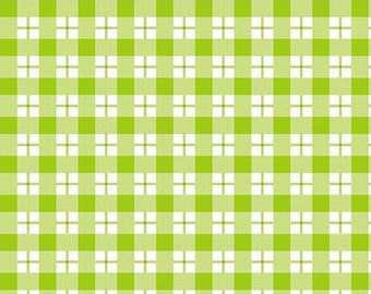 45'' Henry Glass & Co. Ric Rac Paddywack Lime Plaid Flannel by the Yard 6457-6