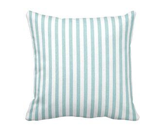Blue Throw Pillow Cover Light Blue Pillow Cover Striped Pillows Nautical Pillows Nautical Decor Decorative Pillows for Couch Pillows