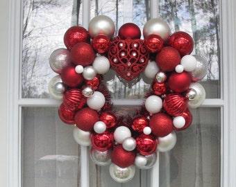 Valentine Heart Ornament Wreath
