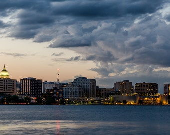 Stormy Madison Skyline - Madison, Wisconsin - Wall Art Photo Print