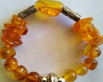 Bracelet amber beads for baby