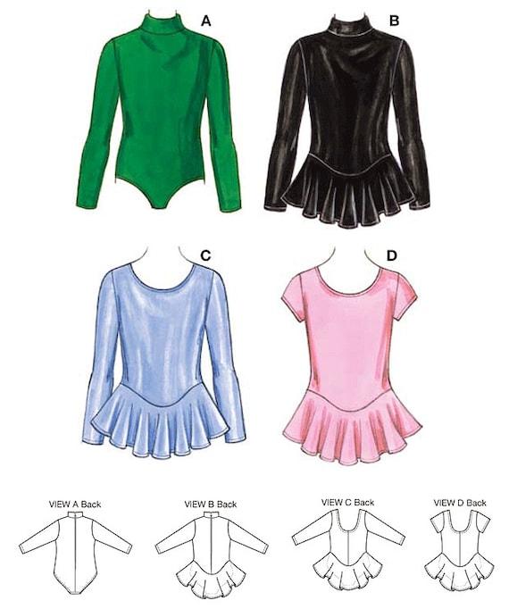 Kwik coser leotardos patrón K3508 niñas con faldón opcional de ...