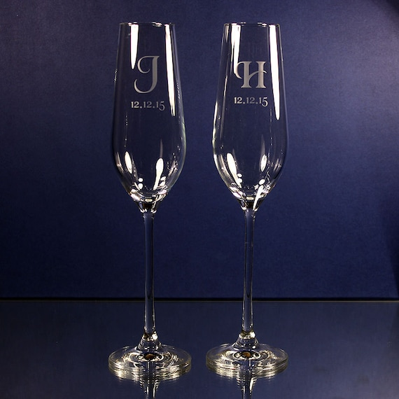 Wedding Gifts Wedding Toasting Glasses Etched By MegaEngraving