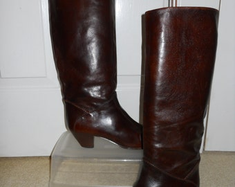vintage tall leather boots