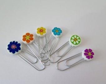 Millefiory flower Pins