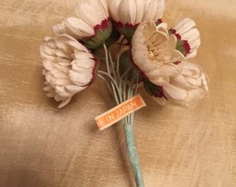 Vintage Flowers, Bridal Hair Accessories, Crown,Wedding Home Decor, millinery flowers, craft flowers.