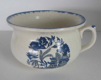 Vintage Childs Chamber pot, Vintage Blue and White English pot, PEK Pottery, Made in England