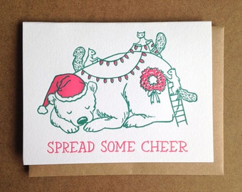Spread Some Cheer Christmas Greeting Card