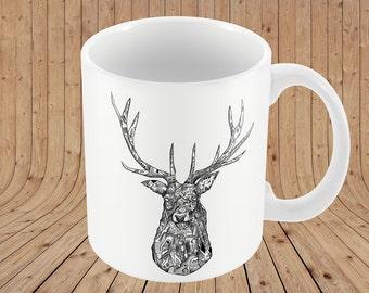 Illustrated Stag Mug
