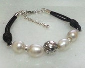 FREE SHIPPING : beads bracelet and silver