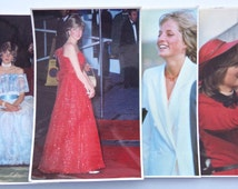 Pack of 4 Vintage Princess Diana Postcards 1980s - Lady Diana, Royal Wedding for Card Making, Art Journals, Scrapbooking and other Crafts