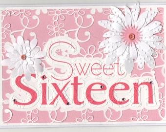 GR41216-E057HB/161   Sweet 16 Birthday Card
