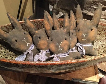 Primitive set of 5 bunny bowl fillers Made to Order