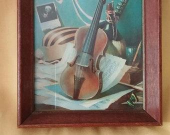 Violin Still Life Framed Picture