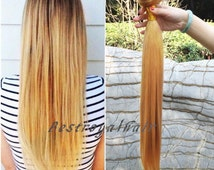 22 Inch Pale Golden Blonde Color Indian Remy Clips in Hair Extensions RHS119