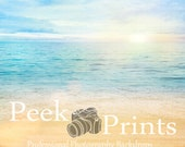 7ft.x7ft. Dreamy Beach- Sand and Water Vinyl Photography Backdrop