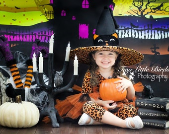 6ftx4ft Haunted House Halloween Backdrop