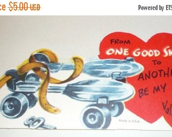 From One Good Skate to Another, Be My Valentine!  Vintage Card