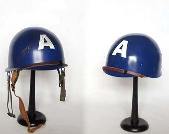 Adult WWII Style Captain America Helmets - Clean or Battle-Worn