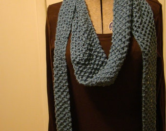 Blue Extra-Long Scarf