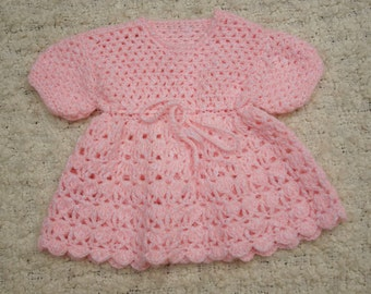 knitted baby dress/knitted baby clothing/vintage baby clothes/crochet baby dresses/crochet baby clothing/12 months