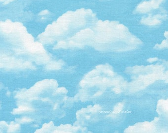 Blue Sky Quilt Fabric, Tmeless Treasures GM C2188 George McCartney, Sky, Cloud Fabric, Landscape Quilt Fabric, Cotton