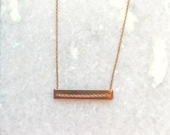 Buenos Aires Necklace- Rose Gold Plate Necklace