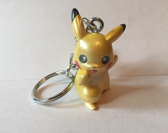 Pokemon Keychain - Pikachu (talk) - repurposed toys