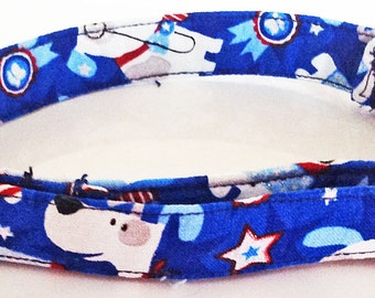 July 4th & Memorial Day Patriotic Dog Collar