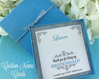 Jewelry Gift Box, Personalized Jewelry Card Box Set, Custom Jewelry Cards, Bridesmaid Jewelry Gift Box Set, Bridal Party Cards